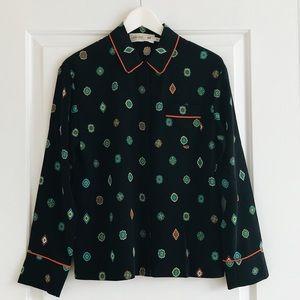 Kenzo x H&M Silk Pajama Top